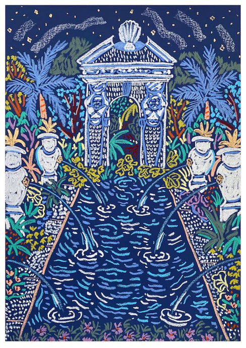 Arundel Castle Gardens at Midnight | Camilla Perkins | Original Artwork | Partnership Editions