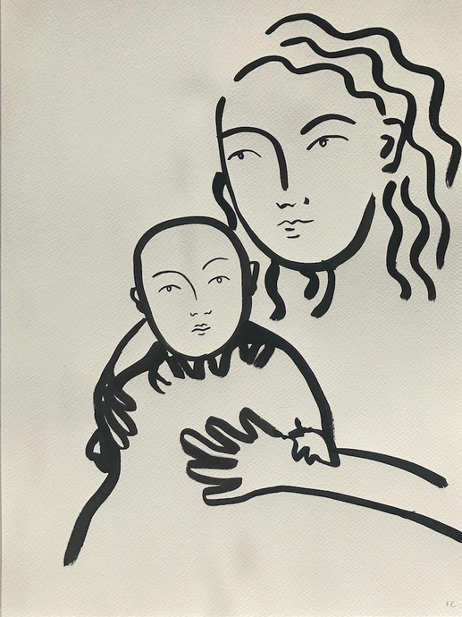 Baby and woman | Frances Costelloe | Original Artwork | Partnership Editions