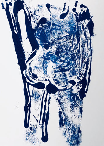 Alexandria Coe | Back View Monoprint 1 | Printing Ink on Paper | Original Artwork | Partnership Editions