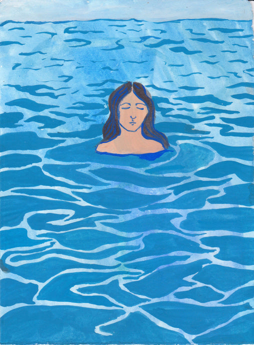 Bather 1 | Cecilia Reeve | Gouache on Paper | Partnership Editions
