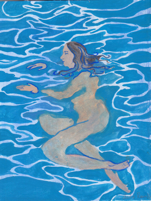 Bather 2 | Cecilia Reeve | Gouache on Paper | Partnership Editions