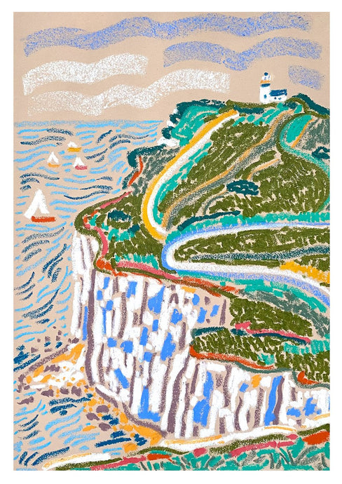 Belle Tout Lighthouse | Camilla Perkins | Original Artwork| Partnership Editions