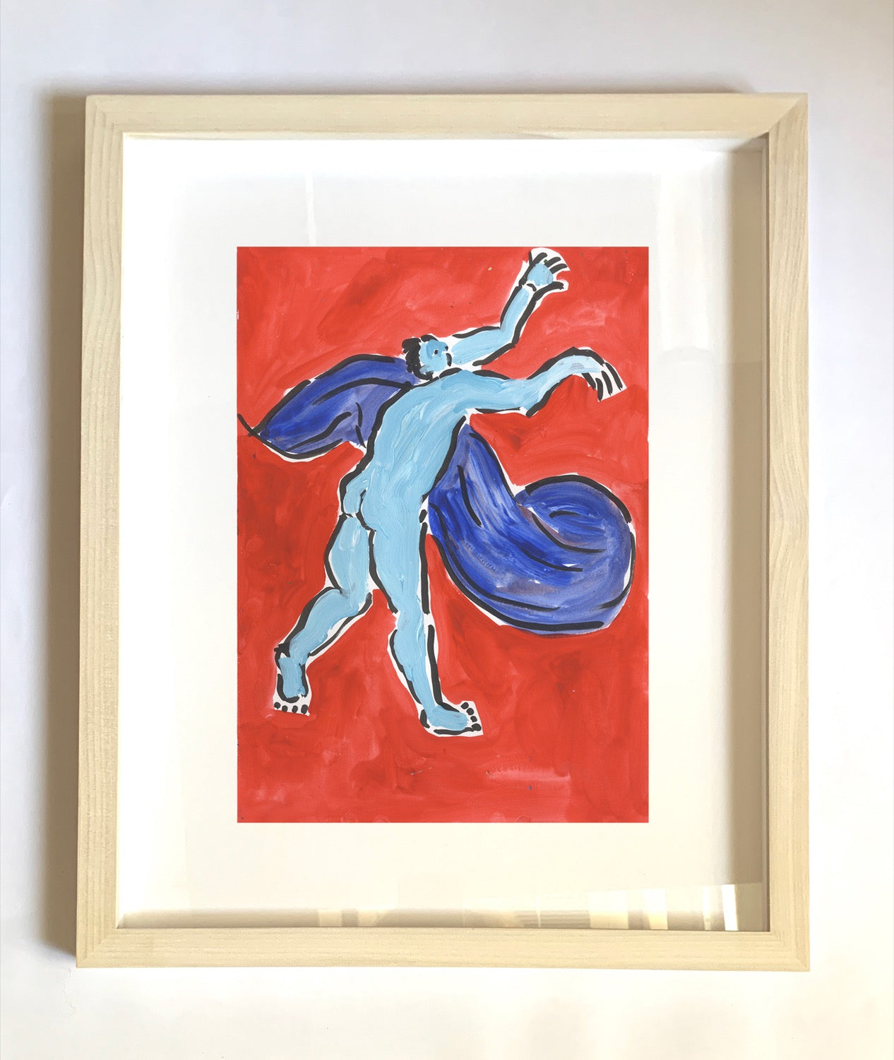 Framed| Blue Man | Isabella Cotier | Partnership Editions