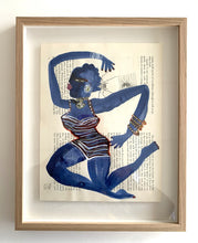 Load image into Gallery viewer, Blue dancer 1 striped one piece | Isabelle Hayman | Original Artwork | Partnership Editions