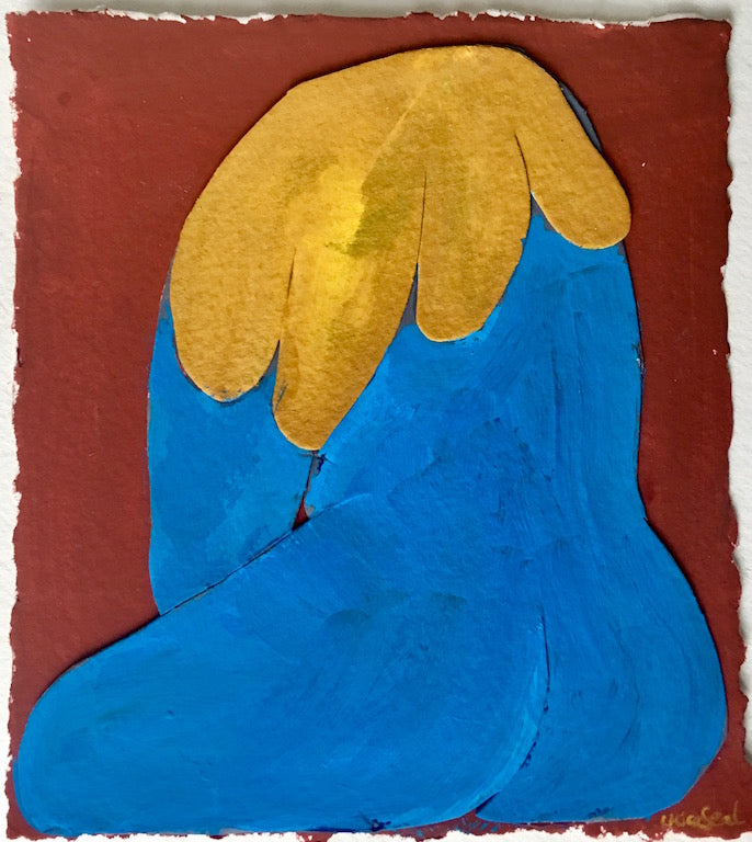 Blue Nude Yellow Hand