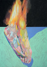 Load image into Gallery viewer, Burning Feet on Grey | Hester Finch | Original Artwork