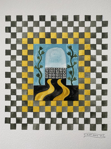 Checkerboard Window ii | Ruby Kean | Original Artwork | Partnership Editions