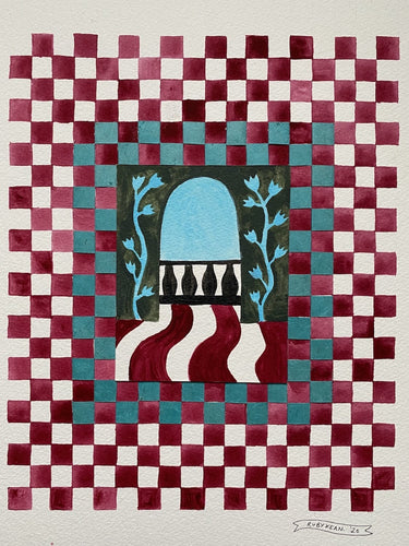 Checkerboard Window iii | Ruby Kean | Original Artwork | Partnership Editions