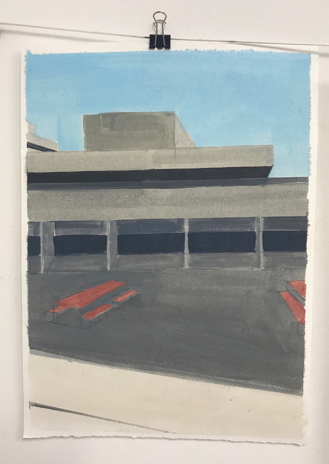National Theatre | Christabel Blackburn | Original Artwork | Oil on Paper | Partnership Editions
