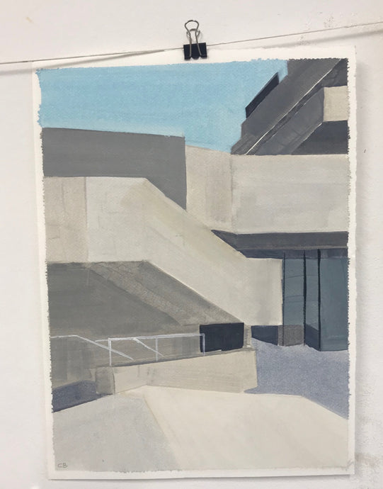 National Theatre 2 | Christabel Blackburn | Original Artwork | Oil on Paper | Partnership Editions
