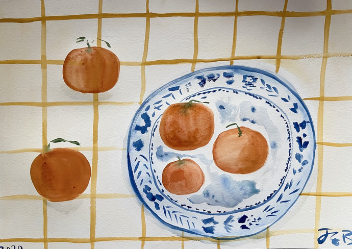 Christmas Morning Clementines | Julianna Byrne | Original Artwork| Partnership Editions