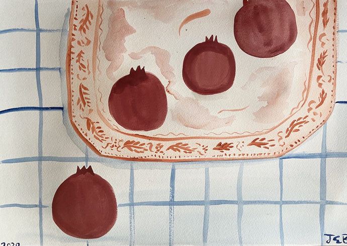 Christmas Morning Pomegranates | Julianna Byrne | Original Artwork| Partnership Editions