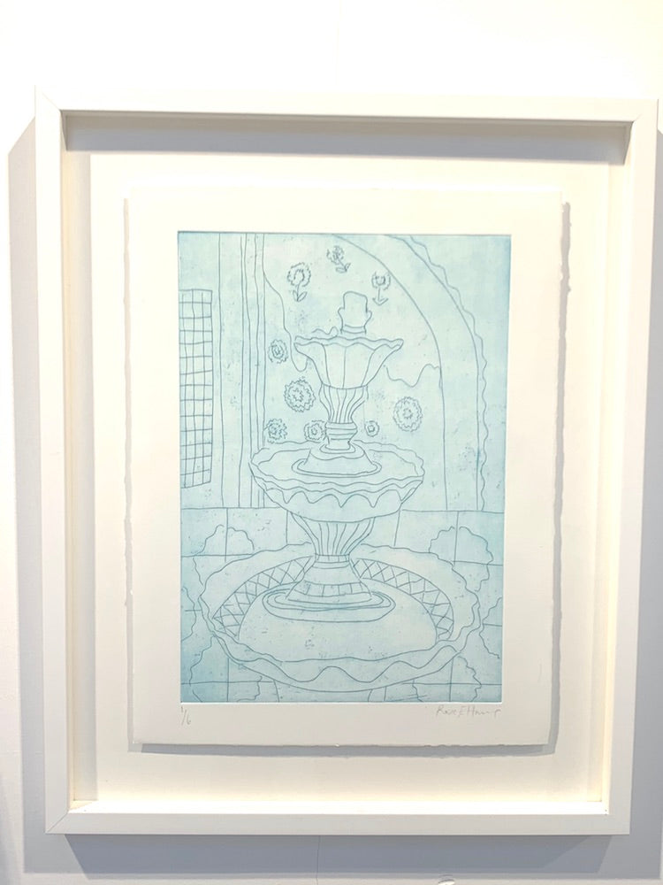 Azul  | Framed Etching | Partnership Editions