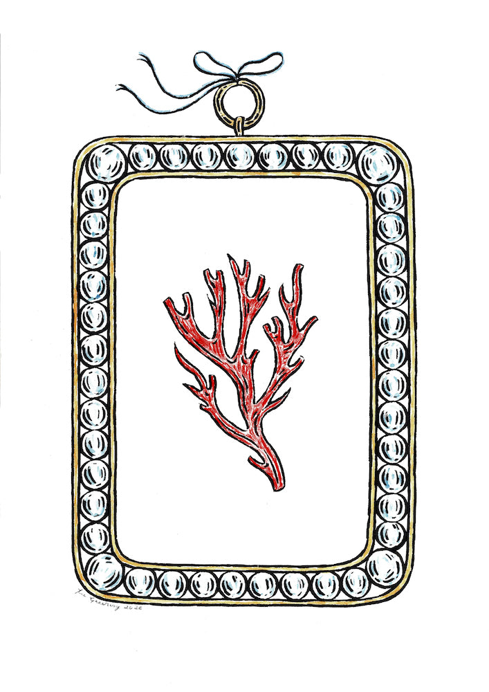 Coral | Fee Greening | Original Artwork | Dip Pen And Ink | Partnership Editions