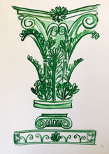 Load image into Gallery viewer, Corinthian Column in Green | Frances Costelloe | Original Artwork | Partnership Editions
