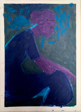 Load image into Gallery viewer, Dark Blue Lady | Jonathan Schofield | Original Artwork | Partnership Editions