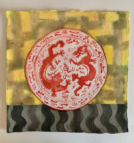 Dragons plate | Isabelle Hayman | Original Artwork| Partnership Editions