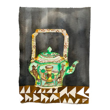 Load image into Gallery viewer, FAMILLE VERTE green tea pot | Isabelle Hayman | Original Artwork | Partnership Editions