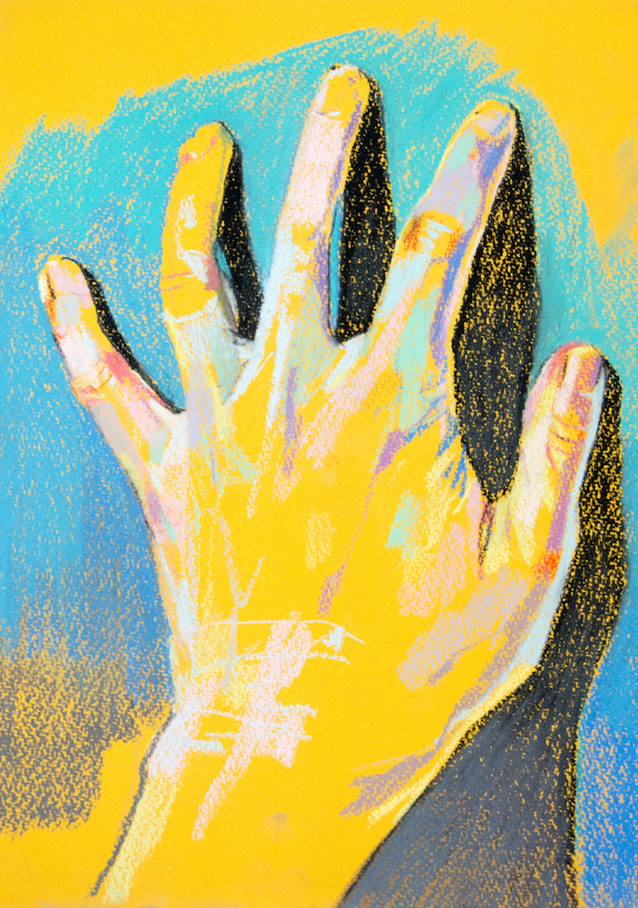 Hand 3 | Hester Finch | Soft Pastel on Paper | Partnership Editions