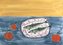 Load image into Gallery viewer, Fish on Red Plate | Julianna Byrne | Original Artwork | Partnership Editions