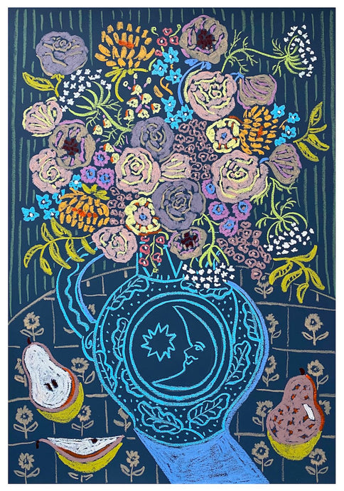 Flowers for the New Moon | Camilla Perkins | Original Artwork| Partnership Editions