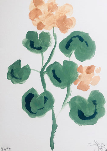 Geranium | Julianna Byrne | Lime Wash Paint on Paper | Partnership Editions