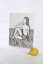 Load image into Gallery viewer, Girl Sitting on Stripes