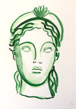 Load image into Gallery viewer, Girl With The Shell Crown In Green | Frances Costelloe | Original Artwork | Partnership Editions