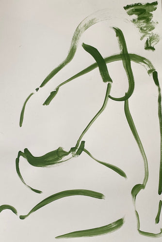 Green Nude 3 | Alexandria Coe | Acrylic on Paper | Partnership Editions