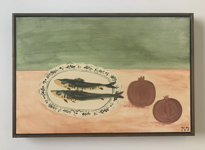 Fish and Pomegranets | Julianna Byrne | Original Artwork | Partnership Editions