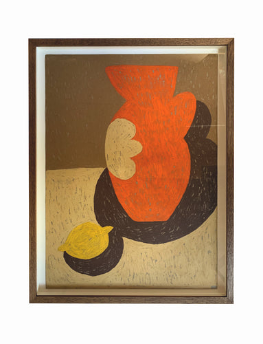 Terracotta Jug With Lemon | Alessandra Chambers | Original Artwork | Partnership Editions