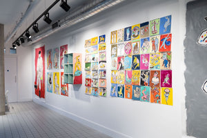 Colourful art exhibition at Islington Square | Isabella Cotier | Partnership Editions