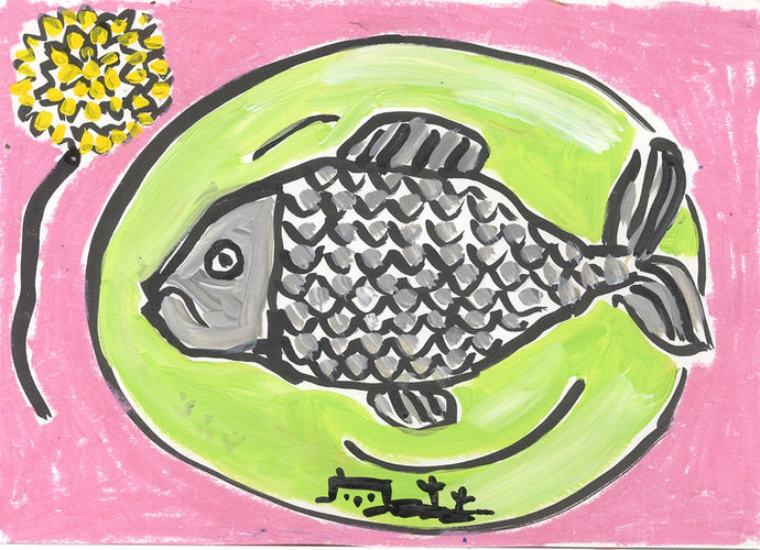 Fish Dinner | Isabella Cotier | Original Artwork | Partnership Editions