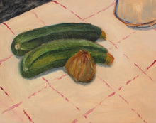 Load image into Gallery viewer, Two Courgettes and an Onion | James Owens | Original Artwork | Partnership Editions