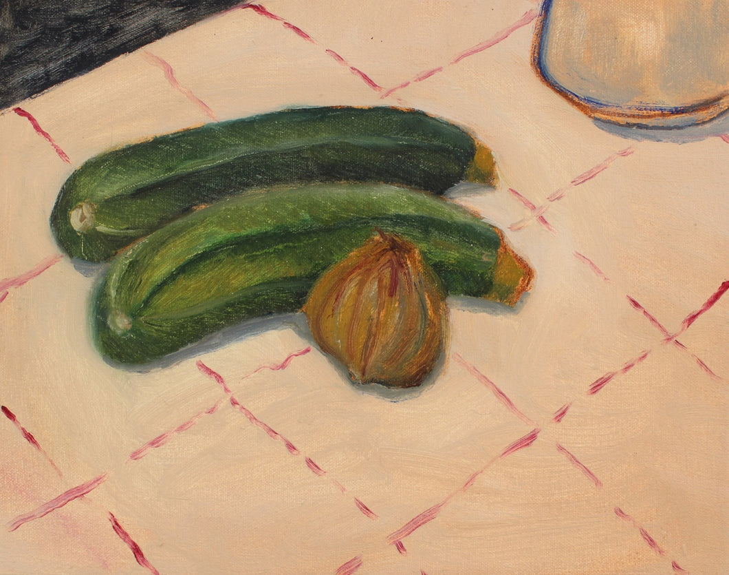 Two Courgettes and an Onion | James Owens | Original Artwork | Partnership Editions