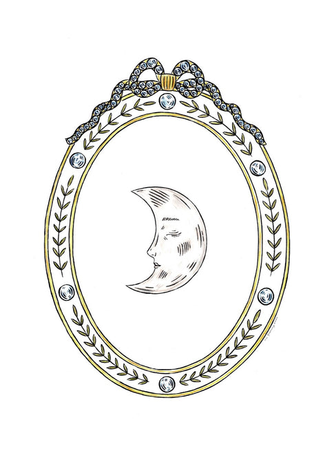 Jewelled Moon | Fee Greening | Original Artwork | Partnership Editions