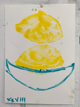 Load image into Gallery viewer, Lemon XXVIII | Jonathan Schofield | Monoprint with Pastel on Paper | Partnership Editions