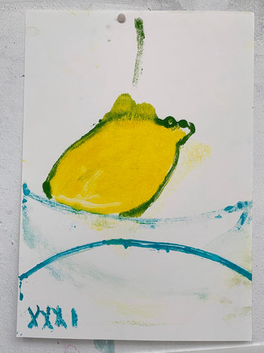 Lemon XXXI | Jonathan Schofield | Monoprint with Pastel on Paper | Partnership Editions