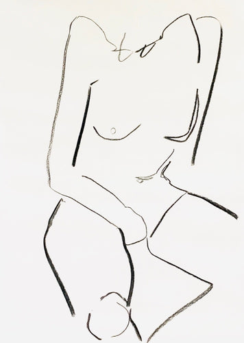 Medium Studio Nude 3 | Alexandria Coe | Original Artwork | Partnership Editions