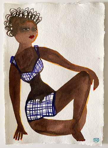 Ngor | Isabelle Hayman | Ink on Khadi Paper | Partnership Editions