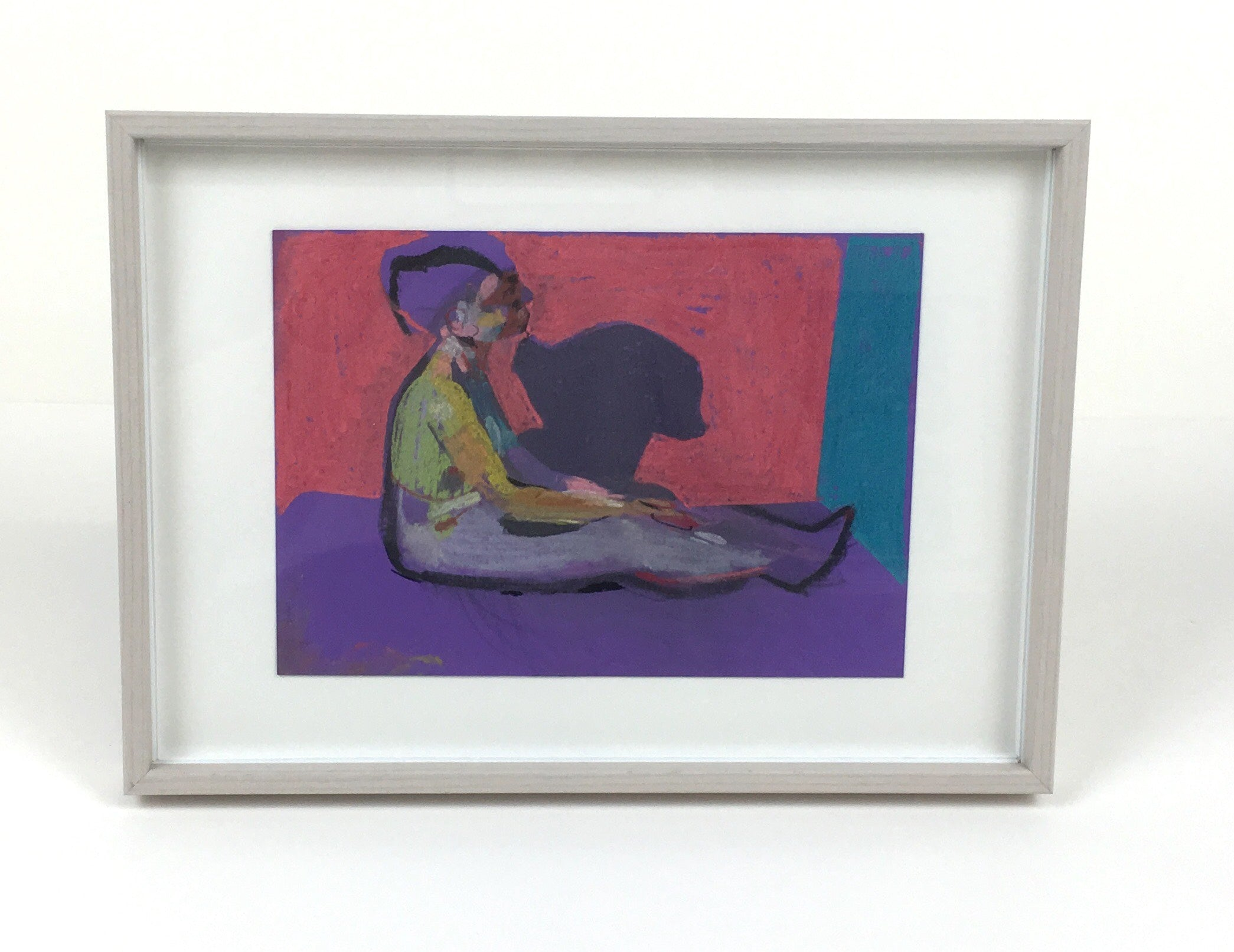 Nude on Purple with Pink Wall