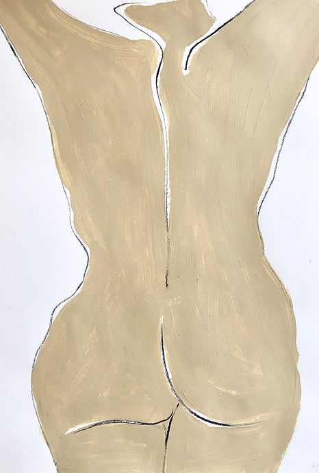 Nude in Nude 2 | Alexandria Coe | Original Artwork | Partnership Editions