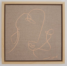 Load image into Gallery viewer, Ocre Rose | Jessica Yolanda Kaye | Acrylic on French Linen Canvas | Partnership Editions