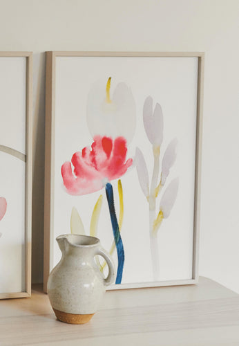 FRAMED Flowered Print