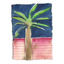 Load image into Gallery viewer, Palm Tree Pink and Navy