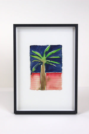Palm Tree Pink and Navy