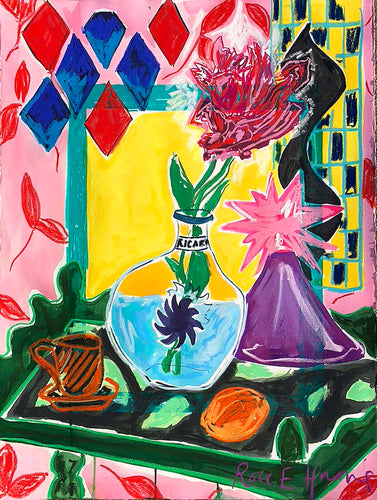 Pastis and Parrot Tulips | Rose Electra Harris | Original Artwork | Partnership Editions