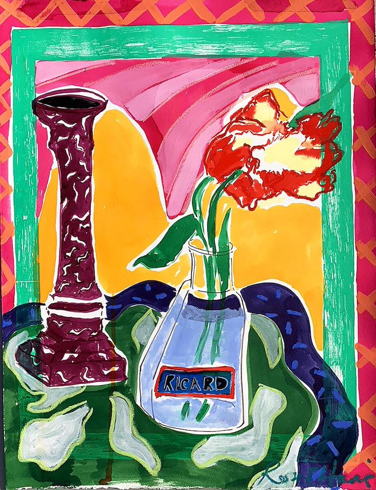 Pastis and Parrot Tulips III | Rose Electra Harris | Original Artwork | Partnership Editions