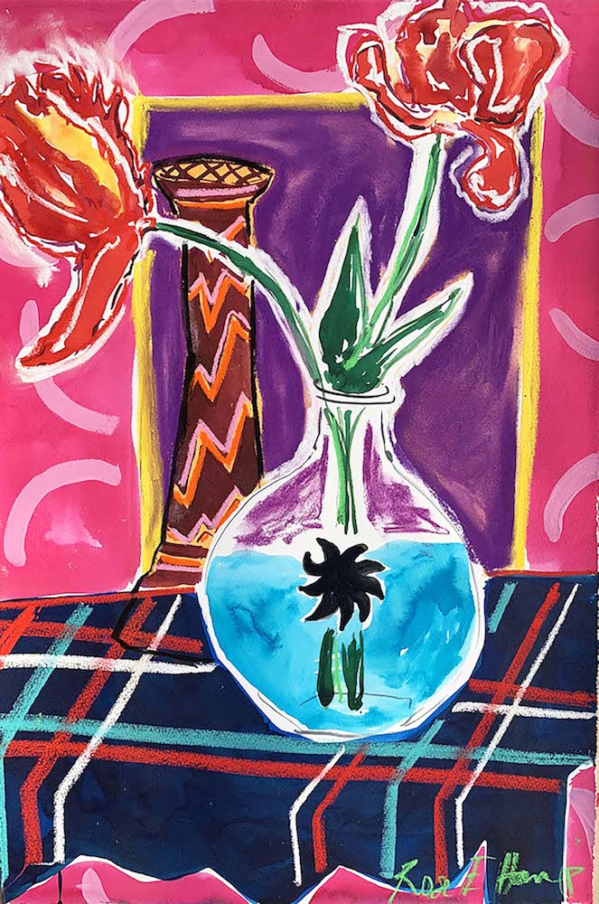 Pastis and Parrot Tulips IV | Rose Electra Harris | Original Artwork | Partnership Editions