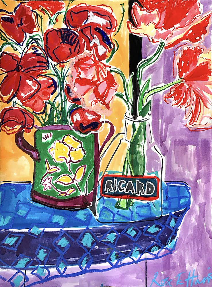 Pastis and Tulips | Rose Electra Harris | Original Artwork | Partnership Editions